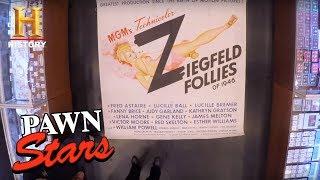Download Pawn Stars: Huge Six-Sheet ″Ziegfeld Follies″ Poster (Season 14) | History Video