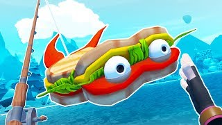 Download Eating the SANDWICH FISH! - Crazy Fishing Gameplay - VR HTC Vive Pro Video