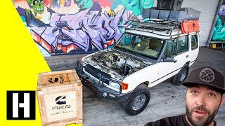 Download Scotto's Land Rover Discovery is next up with a Cummins R2.8 Diesel Swap! Video