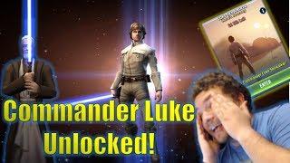 Download Star Wars Galaxy of Heroes: 7 Star Commander Luke Skywalker Unlocked! Hero's Journey Event! Video