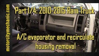 Download Part 1/4: 2009-2015 Ram trucks A/C evaporator and recirculate housing Video