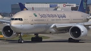 Download [FullHD] Saudia Boeing 777-200(ER) landing & takeoff at Geneva/GVA/LSGG Video