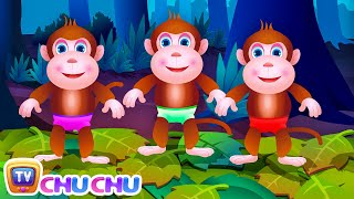 Download Five Little Monkeys Jumping On The Bed | Part 1 - The Naughty Monkeys | ChuChu TV Kids Songs Video