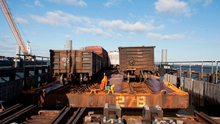 Download The New York Jersey Rail Car Float Operation from NYC to New Jersey Video