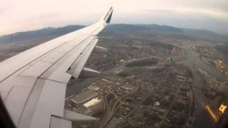 Download Landing at Vancouver International Airport - WestJet Airline HD Video