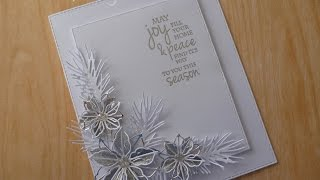 Download Silver and white poinsettia die card Video