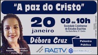 """Download Palestra: """"A paz do Cristo"""", com Débora Cruz Video"""