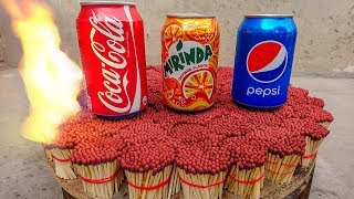 Download EXPERIMENT COCA COLA,PEPSI Can VS 20000 MATCHES – The Most Satisfying Video – Amazing Crazy Experime Video