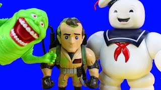 Download Huge Ghostbusters Collection With Metals Diecast Stay Puft Slimer Ghost Busting Toys Video