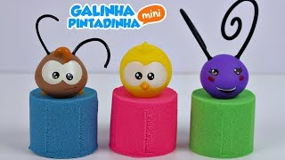 Download GALINHA PINTADINHA PINTINHO AMARELINHO Massinha Areia de Modelar Kinetic Sand Learn Colors Video