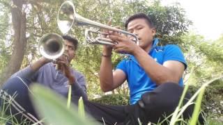 Download Mera geet amar kar do = mannu and sonu ( trumpet) Video