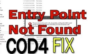 Download How to Fix The Procedure entry Point Could not be located in dynamic link library error | COD4 Video