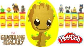 Download Galaksinin Koruyucuları 2 Bebek Groot Sürpriz Yumurta Oyun Hamuru - Demir Adam Çöpsler Video