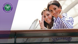 Download The Duchess of Cambridge and The Duchess of Sussex arrive at Wimbledon Video