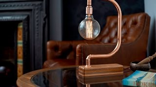 Download Handmade Copper Desk Lamp D Light Video