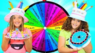 Download MYSTERY WHEEL OF CAKE CHALLENGE - TWINS BIRTHDAY!!! Video