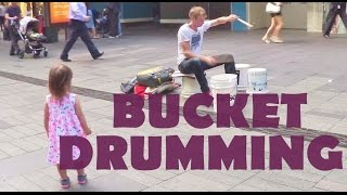 Download GORDO BUCKET DRUMMER (WITH ALICE) 호주 시드니 길거리 공연 Video