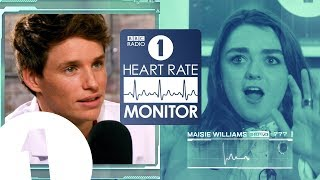 Download Maisie Williams HEART RATE MONITOR feat. Eddie Redmayne | GAME OF THRONES 'SPOILERS' (!?) Video