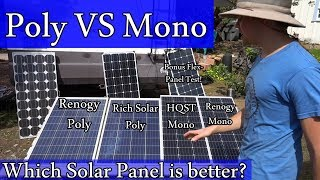 Download Amazon Solar Panels: Mono vs Poly - Real World Test - Worth the $$? Video
