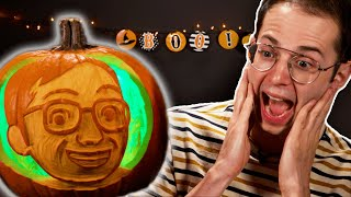 Download Carving Each Other's Faces On To Pumpkins 🎃 Video