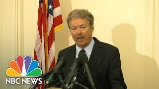 Download Senator Rand Paul Announces He Will Oppose Nominations Of Mike Pompeo And Gina Haspel | NBC News Video