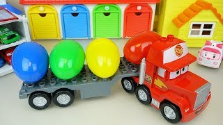 Download Cars Carrier truck and surprise eggs Carbot car toys play Video