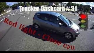 Download Trucker Dashcam #31 Red light - Close call! Video