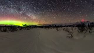 Download 360 Video of Aurora Borealis and Milkyway in Glacierview, AK Video