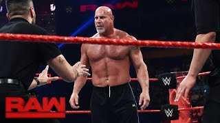 Download Goldberg and Brock Lesnar meet face-to-face before Survivor Series: Raw, Nov. 14, 2016 Video