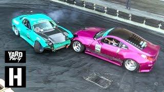 Download Rotary vs V8 Tandem Drift Car Shredding Video