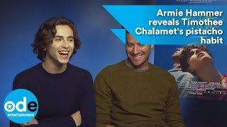 Download Armie Hammer reveals Timothée Chalamet's pistachio habit Video