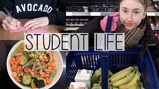 Download UNI VLOG | EASY STUDENT MEALS, TIME MANAGEMENT & KEEPING ON TOP OF WORK Video