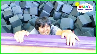 Download Parkour Trampoline Indoor Playground with Ryan's Mommy and Daddy! Video