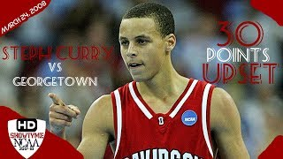 Download Stephen Curry Davidosn Full Highlights Vs Georgetown 2008.24.03 - 30 Pts 5 Asts, UPSET Georgetown! Video