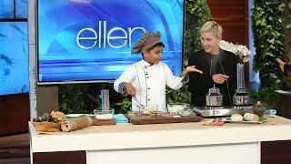 Download 6-Year-Old Chef Kicha Cooks with Ellen Video