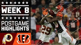 Download Redskins vs. Bengals | NFL Week 8 Game Highlights Video