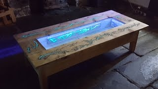 Download DIY Pallet Coffee Table - Glow in the dark wood projects with Lichtenberg Figure Video