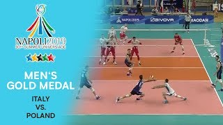 Download ITALY vs. POLAND | Men's Gold Medal | FISU Summer Universiade - Napoli 2019 Video