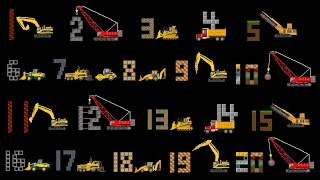 Download Vehicles Counting Collection - Construction Counting to 20, Count to 100 - The Kids' Picture Show Video