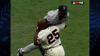 Download Torii Hunter robs Barry Bonds of All-Star Game home run Video