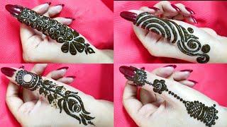 Download 4 DIY Thumb mehendi designs | Beautiful stylish Side thumb henna design trending Video