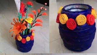 Download How to make newspaper flower vase  Newspaper crafts Video