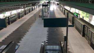 Download Tuas Link station is the first to have a concourse level built above the platform. Video