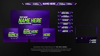 Download Free Twitch Overlay Template Pack # 2 - PSD - Free Download Video