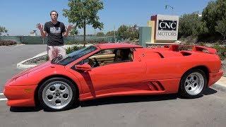 Download The Lamborghini Diablo VT Roadster Was a Crazy 1990s Supercar Video
