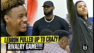 Download LeBron, & Bronny Watch Shaqir & Crossroads CRAZY RIVALRY GAME vs Brentwood!! Video