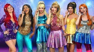 Download DISNEY PRINCESS POP STARS. (Ariel, Jasmine, Aurora, Belle, Elsa and Anna) Totally TV parody Video