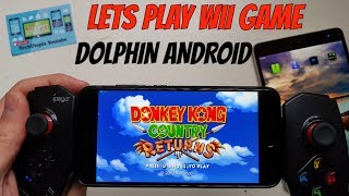 Download Playing Donkey Kong Country Returns on Android Smartphone/Wii Game Emulator Dolphin Video