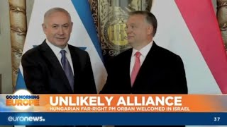 Download Unlikely Alliance: Hungarian far-right PM Orban welcomed in Israel Video