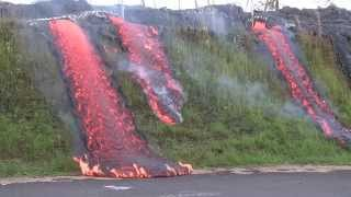 Download Lava flows in Pahoa - Eruption Update Video